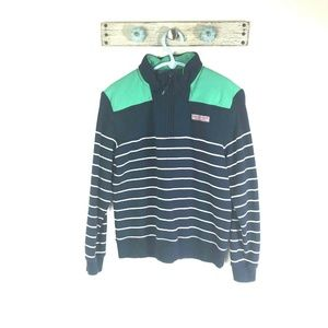 Vineyard Vines Boys M Blue Striped Pullover Shirt